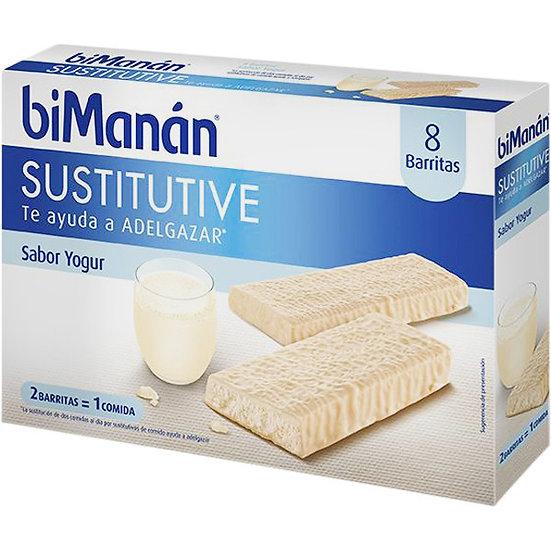 Bimanan Sustitutive 8 Barritas Sabor Yogurt 40Gr