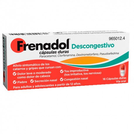 Frenadol Descongestivo16 Caps