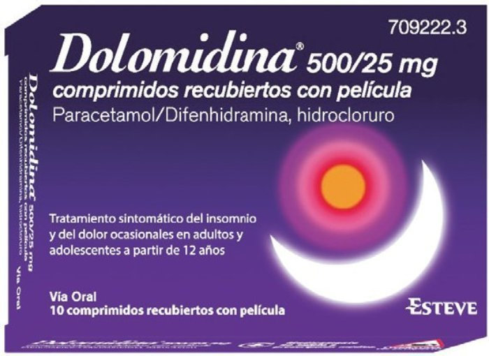 Dolomidina Efg ???500 Mg/25 Mg 10 Compr Re