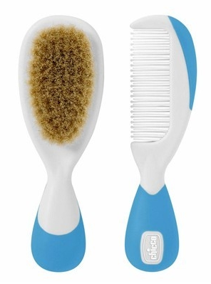 Cepillo Y Peine Infchicco Pelo Natural Azul
