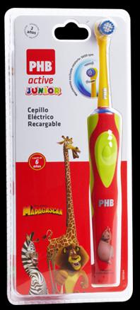 Cepillo Dental Electricophb Active Junior Rojo