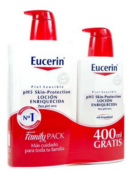Pack Eucerin Locion Enriquecida 1L+400Ml Gratis