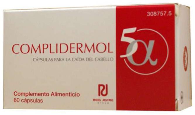 Complidermol 5 Alfa Anticaída Cabello 60Cápsulas