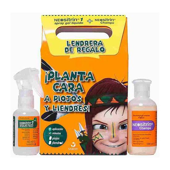 Neositrin 100 % Spray +Antipiojos Kit