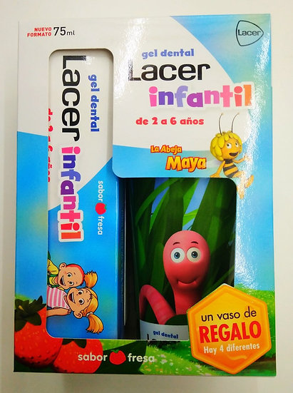 Lacer Kit Gel Dental Infantil + Vaso De Regalo