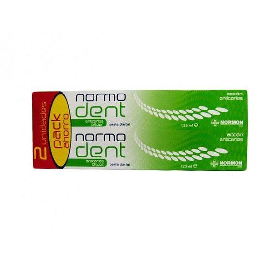 Normodent Pasta Dentalanticaries Fluor Pack 2