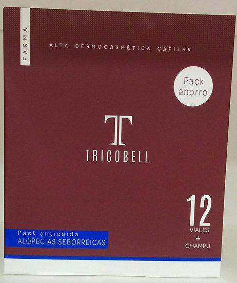 Tricobell Pack Ahorro Champu+Ampollas Seborreica