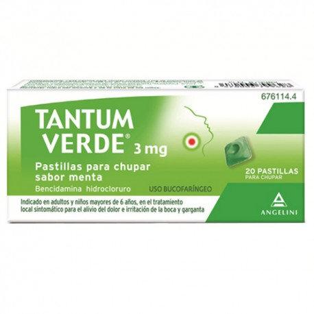 Tantum Verde3 Mg 20 Pastillas Para C