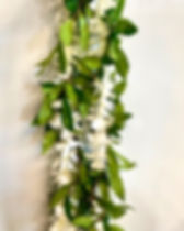 Maile lei with white orchid wrap.JPG