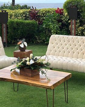 Cocktail Table Arrangements