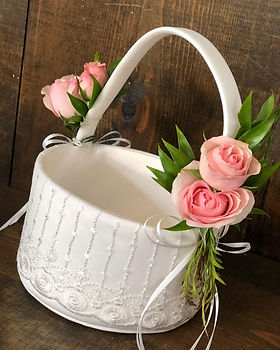 Flower Girl Basket With Petals