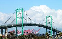Terminal Island Bridge seen from propert