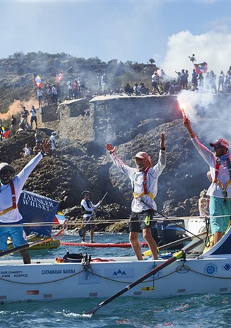 Team Wadadli cross the finish line of th
