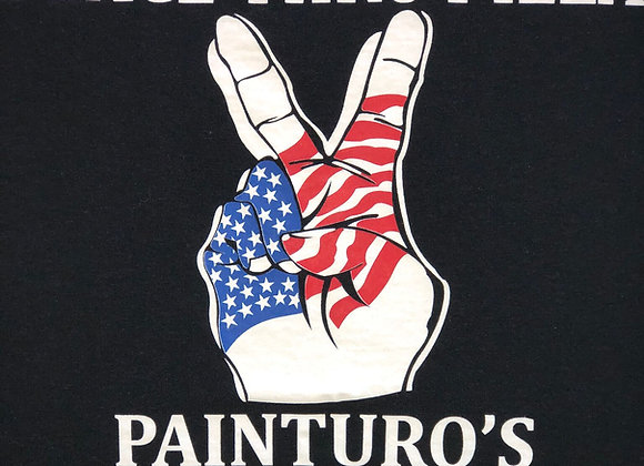 Painturo's Peace Thru Pizza T-Shirt-LONG SLEEVE