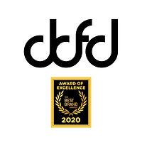 Logo de DDFD Dominic Dufort Fashion Designer avec Best Brand Awards 2020