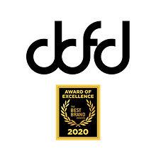 Logo de Dominic Dufort Fashion Designer DDFD avec Best Brand Awards 2020