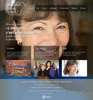 Claudine Chatel Website Design and Production