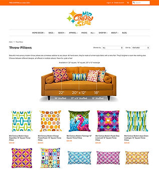 Mid Century Style Shop Website Management and Design