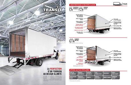 Brochure produit pour les boites de camion Transit