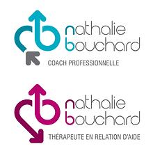 Deux logos pour Nathalie Bouchard, thérapeute et coach