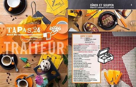 Menu traiteur du restaurant Tapas24