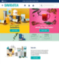 David's Tea Webpage Artistic Direction and Design