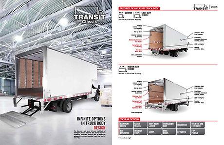 Brochure pour les boites de camion Transit
