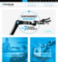 Kinova Robotics Webpage Graphic Design