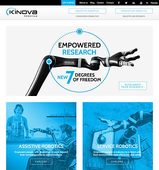 Kinova Robotics Webpage Graphic Design