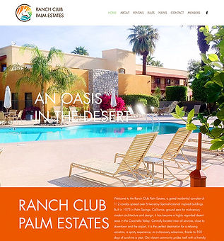 Ranch Club Palm Estates Website Design