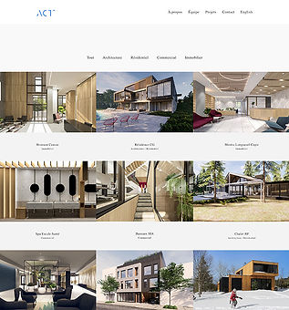 ActAD Architecture and Interior Design Website Creation and Production