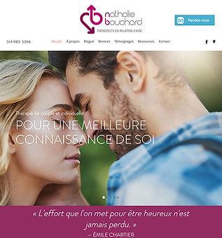 Nathalie Bouchard Thérapeute Website Design