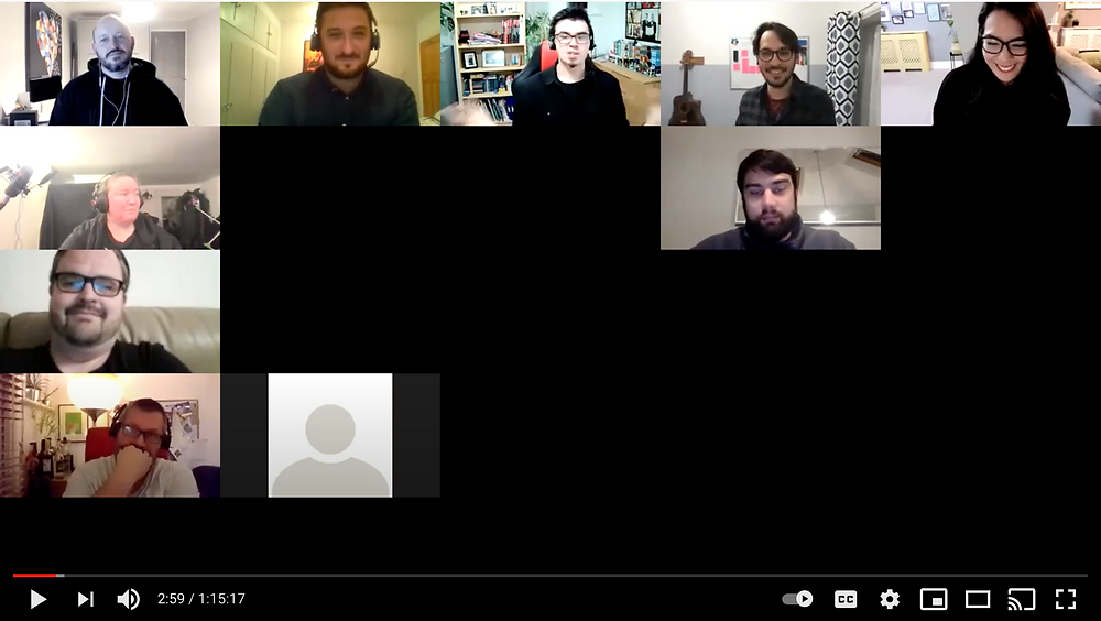 Screenshot of a Zoom call with more than 10 attendees.