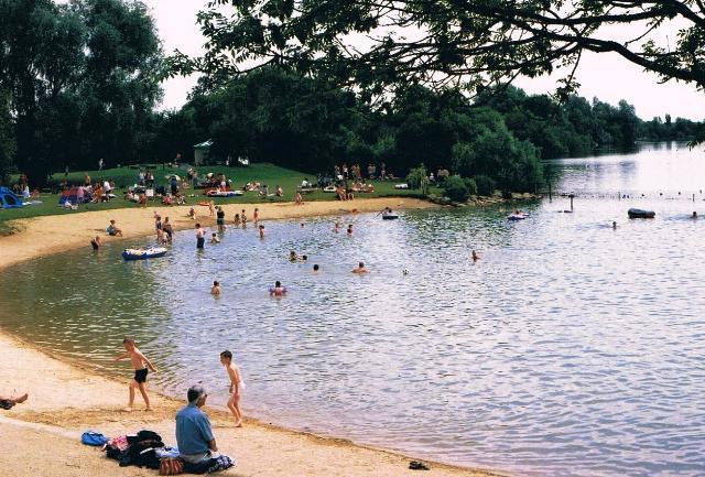 Rutland Water Bathing Beach could soon be as popular as Cotswold Water Park pictured here
