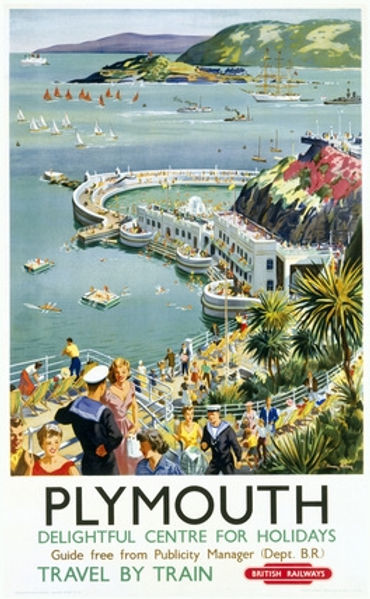 British Railways advertisment Plymouth Hoe Holiday Centre
