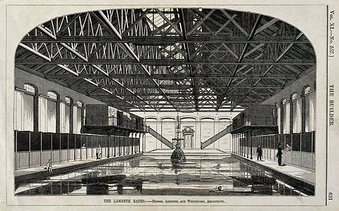 Swimming Historylondon​ swimming history LAMBETH Baths W. E. Hodgkin