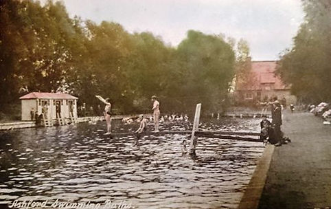 History Ashford Swimming Baths open air swimming and diving board