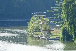 Lake Swimming in Prague Vodní nádrž Džbán