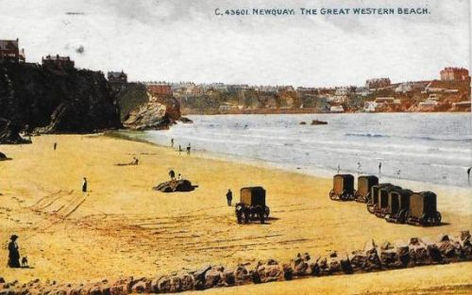 Newquay Great Western Beach Bathing Machines Wild Swimming History Cornwall
