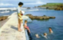 Swimming History Safe swimming in the Sea pool Summerleaze beach Bude