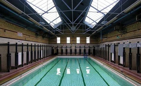 Bradford swimming history Public Bath, Manningham