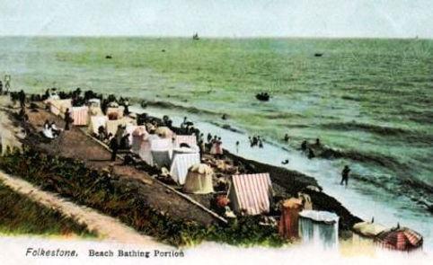 Folkstone Beach Bathing Area