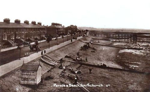 Southchurch Beach and Christian Bathing  Hut Swimming History