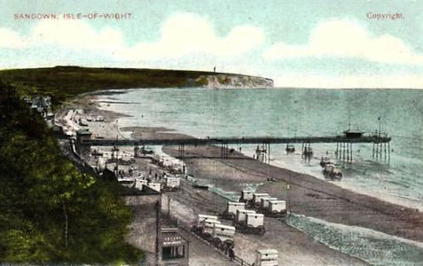 Sea Bathing at Sandown Isle-of-White