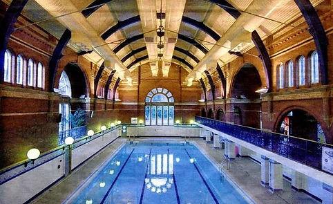 GLOSSOP.  Public Bath, Howard Park. Swimming History