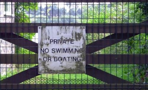 No Swimming Cropston Leicester