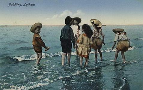 Paddling lytham c1905 Swimming History