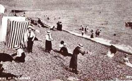 Folkstone Beach Bathing