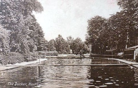 Swimming History London  The DUCKER, Harrow Boys School LIDO London 1915