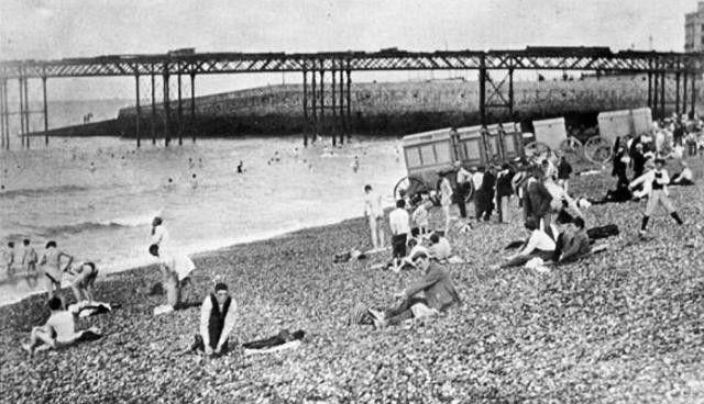 Brighton Men's Bathing Beach 1895